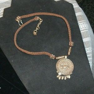 Lucky Brand Tribal Pendant Necklace Reversible